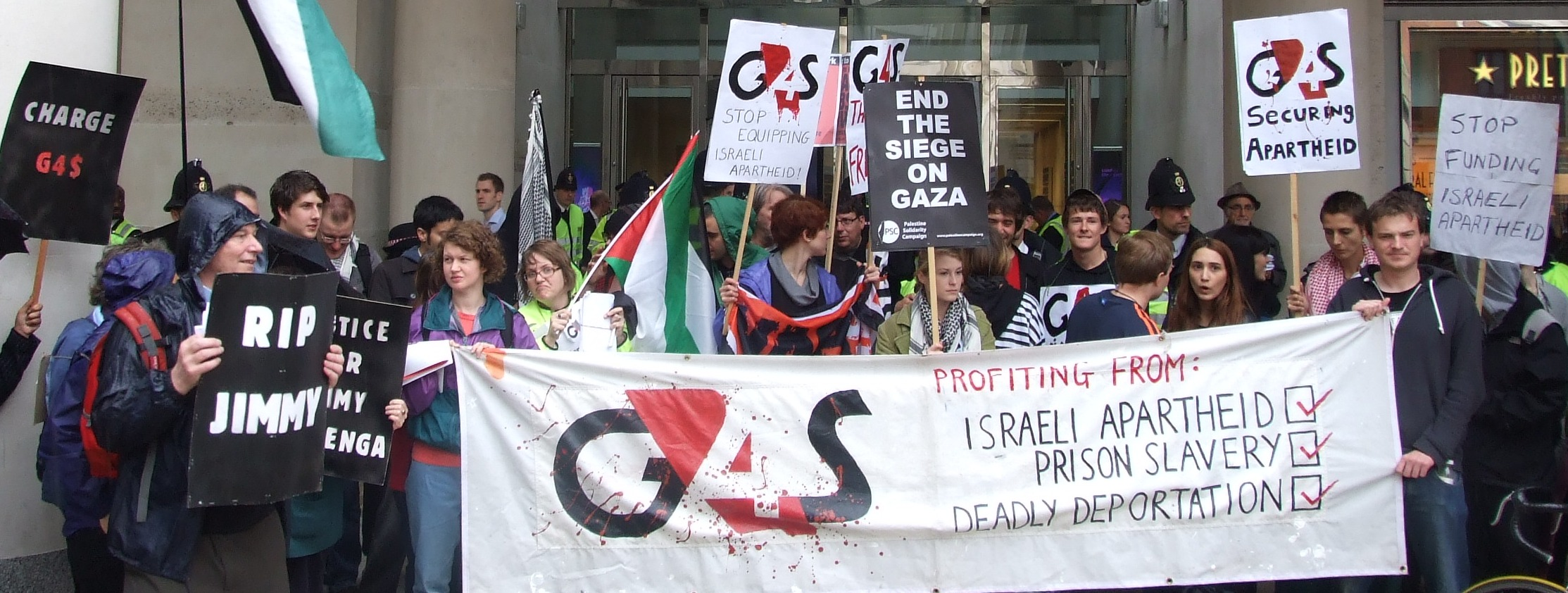 campaigners against G4S