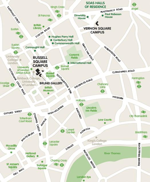 map of SOAS