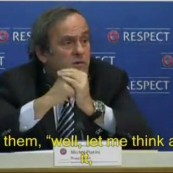 Michel Platini, president of the Union of European Football Associations