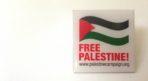 Free Palestine Square Enamel Pin Badge