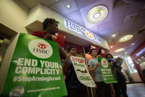 UK-wide protests tell HSBC: Stop Arming Israel! - Palestine