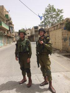 Two teenage Israeli conscripts in Hebron