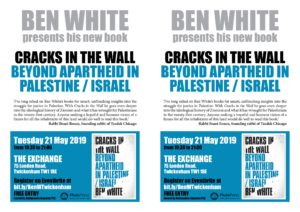 Richmond and Kingston PSC: Ben White Book Launch - Palestine